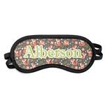 Fox Trail Floral Sleeping Eye Mask (Personalized)