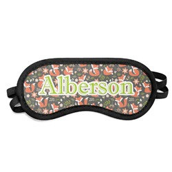 Fox Trail Floral Sleeping Eye Mask (Personalized)