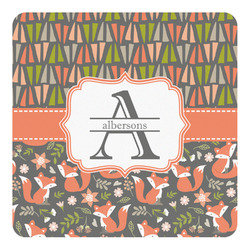 Fox Trail Floral Square Decal (Personalized)