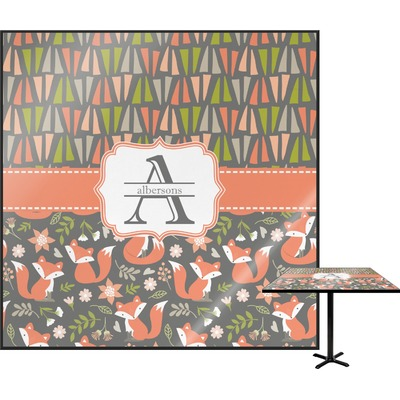 Fox Trail Floral Square Table Top (Personalized)