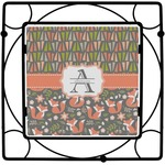 Fox Trail Floral Square Trivet (Personalized)