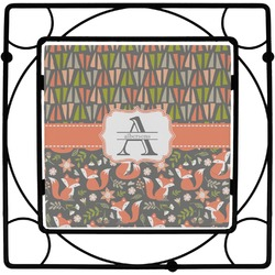 Fox Trail Floral Trivet (Personalized)