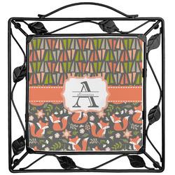 Fox Trail Floral Trivet (Personalized)