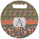 Fox Trail Floral Stadium Cushion (Round) (Personalized)