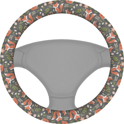 Fox Trail Floral Steering Wheel Cover (Personalized)