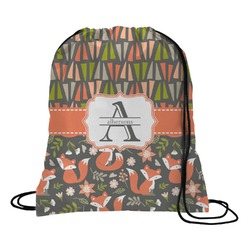 Fox Trail Floral Drawstring Backpack (Personalized)