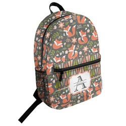 Fox Trail Floral Student Backpack (Personalized)