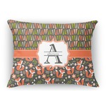 Fox Trail Floral Rectangular Throw Pillow Case (Personalized)