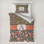 Fox Trail Floral Toddler Bedding w/ Name and Initial