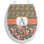 Fox Trail Floral Toilet Seat Decal (Personalized)