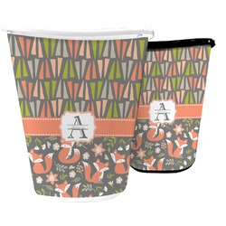 Fox Trail Floral Waste Basket (Personalized)