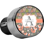 Fox Trail Floral USB Car Charger (Personalized)