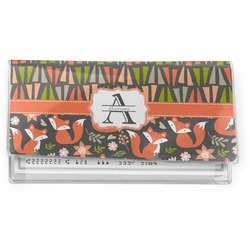 Fox Trail Floral Vinyl Checkbook Cover (Personalized)
