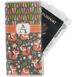 Fox Trail Floral Travel Document Holder