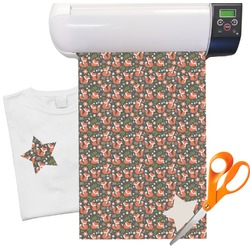 "Fox Trail Floral Heat Transfer Vinyl Sheet (12""x18"")"