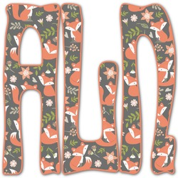 Fox Trail Floral Monogram Decal - Custom Sized (Personalized)