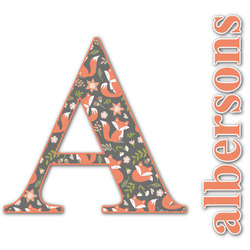 Fox Trail Floral Name & Initial Decal - Custom Sized (Personalized)