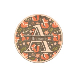 Fox Trail Floral Genuine Wood Sticker (Personalized)