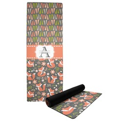 Fox Trail Floral Yoga Mat (Personalized)