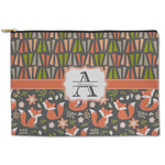 Fox Trail Floral Zipper Pouch (Personalized)