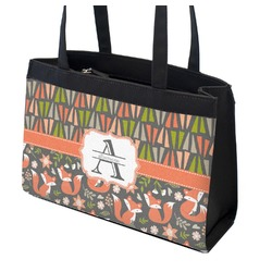 Fox Trail Floral Zippered Everyday Tote (Personalized)