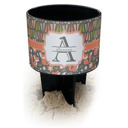 Fox Trail Floral Black Beach Spiker Drink Holder (Personalized)