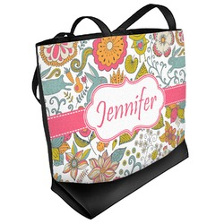 Wild Garden Beach Tote Bag (Personalized)