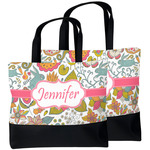 Wild Garden Beach Tote Bag (Personalized)