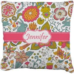 "Wild Garden Faux-Linen Throw Pillow 26"" (Personalized)"
