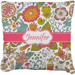 Wild Garden Faux-Linen Throw Pillow (Personalized)