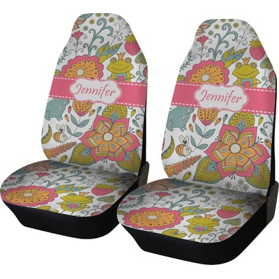 Wild Garden Car Seat Covers Set Of Two Personalized