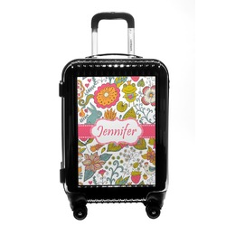 Wild Garden Carry On Hard Shell Suitcase (Personalized)