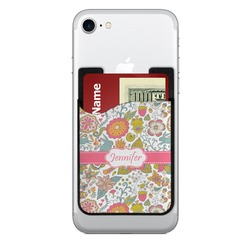Wild Garden 2-in-1 Cell Phone Credit Card Holder & Screen Cleaner (Personalized)