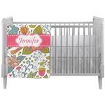 Wild Garden Crib Comforter / Quilt (Personalized)