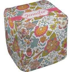 "Wild Garden Cube Pouf Ottoman - 18"" (Personalized)"