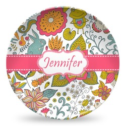 Wild Garden Microwave Safe Plastic Plate - Composite Polymer (Personalized)