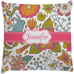 Wild Garden Decorative Pillow Case (Personalized)