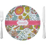 "Wild Garden Glass Lunch / Dinner Plates 10"" - Single or Set (Personalized)"