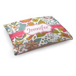 Wild Garden Dog Pillow Bed (Personalized)