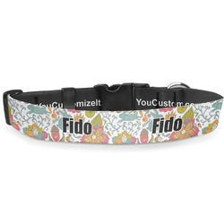 """Wild Garden Deluxe Dog Collar - Toy (6"""" to 8.5"""") (Personalized)"""