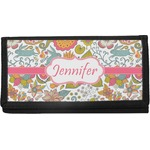 Wild Garden Canvas Checkbook Cover (Personalized)