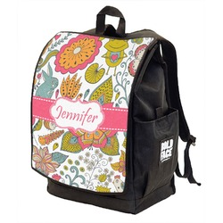 Wild Garden Backpack w/ Front Flap  (Personalized)