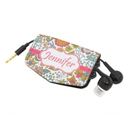 Wild Garden Genuine Leather Cord Wrap (Personalized)