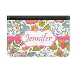 Wild Garden Genuine Leather ID & Card Wallet - Slim Style (Personalized)