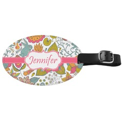 Wild Garden Genuine Leather Luggage Tag (Personalized)
