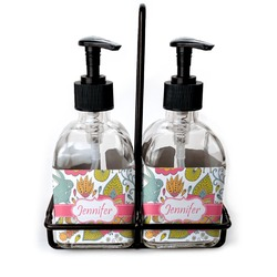 Wild Garden Soap & Lotion Dispenser Set (Glass) (Personalized)