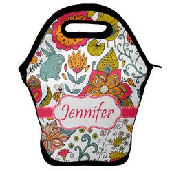 Wild Garden Lunch Bag w/ Name or Text