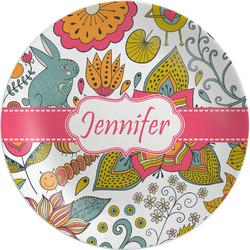 Wild Garden Melamine Plate (Personalized)