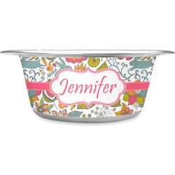 Wild Garden Stainless Steel Pet Bowl (Personalized)