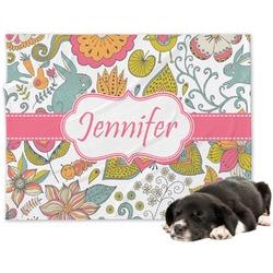 Wild Garden Minky Dog Blanket (Personalized)